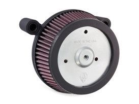 Stage 1 Big Sucker Air Filter with Backing Plate in Black Finish. Fits Touring 2008-2013.