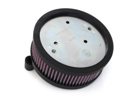 Stage 1 Big Sucker Air Filter with Backing Plate in Black Finish. Fits Sportster 1988up with EFI or CV Carburettor.