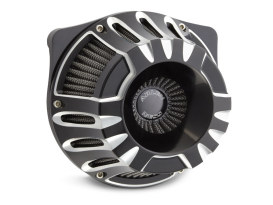 Deep Cut Air Cleaner Kit - Black. Fits Touring 2017up & Softail 2018up.