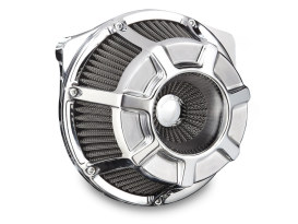 Beveled Air Filter Assembly with Chrome Finish. Fits Touring 2017up & Softail 2018up Models.