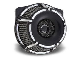 Slot Track Air Filter Assembly with Black Finish. Fits Sportster 1988up.