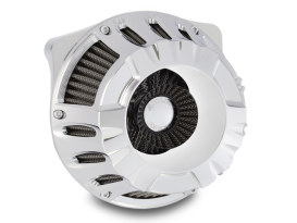 Deep Cut Air Filter Assembly with Chrome Finish. Fits Twin Cam 2008-2017 with Throttle-by-Wire & Twin Cam 2006-2017 with Screaming Eagle 58mm Throttle Body Upgrade.