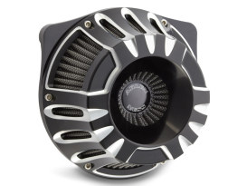 Deep Cut Air Filter Assembly with Black Finish. Fits Twin Cam 2008-2017 with Throttle-by-Wire & Twin Cam 2006-2017 with Screaming Eagle 58mm Throttle Body Upgrade.