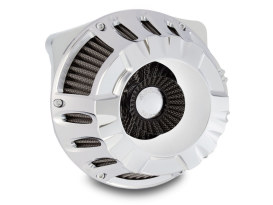Deep Cut Air Filter Assembly with Chrome Finish. Fits Twin Cam Models 1999-2017 with CV Carburettor or Delphi EFI.
