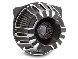Deep Cut Air Filter Assembly with Black Finish. Fits Twin Cam Models 1999-2017 with CV Carburettor or Delphi EFI.