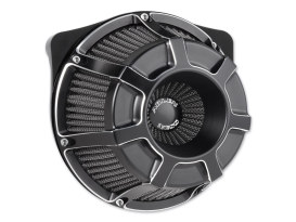 Beveled Air Filter Assembly with Black Finish. Fits Twin Cam Models 1999-2017 with CV Carburettor or Delphi EFI.