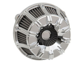 10-Gauge Air Filter Assembly with Chrome Finish. Fits Twin Cam Models 1999-2017 with CV Carburettor or Delphi EFI.