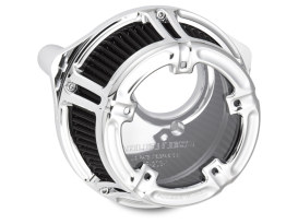 Method Air Cleaner Kit Chrome. Fits Big Twins 1999-2017 with CV Carb or Cable Operated Delphi EFI.
