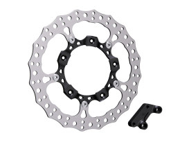 14in. Left Hand Front Jagged Big Brake Disc Rotor - Black. Fits Touring 2014up.