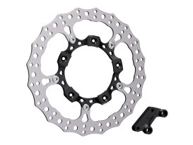 14in. Right Hand Front Jagged Big Brake Disc Rotor - Black. Fits Touring 2014up.