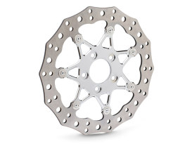 11.8in. Front ProCross Disc Rotor - Chrome. Fits Dyna 2006-2017, Softail 2015up, Sportster 2014up & Some Touring 2008up.