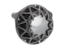 Cross Spoke Air Cleaner Kit - Contrast Cut. Fits Big Twins 1999-2017 with CV Carb or Cable Operated Delphi EFI.