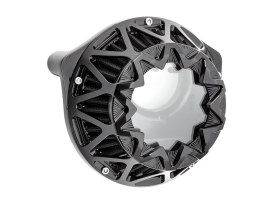 Crossfire Air Cleaner Kit - Black. Fits Big Twins 1999-2017 with CV Carb or Cable Operated Delphi EFI.