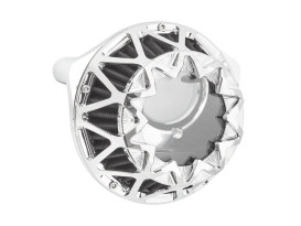 Cross Spoke Air Cleaner Kit - Chrome. Fits Big Twins 1999-2017 with CV Carb or Cable Operated Delphi EFI.