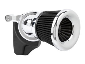 Velocity 65 Degree Air Cleaner Kit - Chrome. Fits Twin Cam 2008-2017 with Throttle-by-Wire.