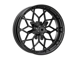 18in. x 5.5in. Fat Factory Forged Prodigy Replica Wheel, FLH 2008up - Gloss Black.