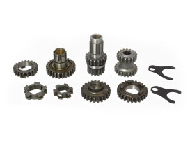 Tranmission Gear Kit. Fits 4Spd Big Twin 1936-1976.