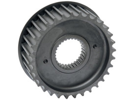 34 Tooth Transmission Pulley. Fits 6 Speed Twin Cam Models 2006-17. Long Life Steel. Excludes Touring Models.