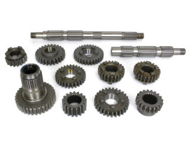 Transmission Gear Kit with 2.94 1st Gear Ratio. Fits Big Twin 1991-2006 with 5 Speed Transmission & Belt Drive.