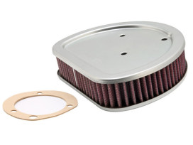 OEM Replacement Air Filter Element. Fits Twin Cam 1999up with CV Carburettor, Softail 2001up with EFI & Big Twin 2002up with EFI.