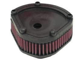 OEM Replacement Air Filter Element. Fits Big Twin 1986-1989 with Round Diamond Shape Air Cleaner.