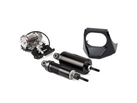 Rear Air Shock Absorbers - Black. Fits Softail 2001-2017.