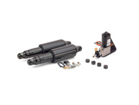 Rear Air Shock Absorbers - Black. Fits Dyna 2008-2017.