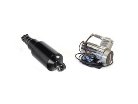 Rear Air Shock Absorbers - Black with Chrome Handlebar Switch. Fits Softail 2018up.