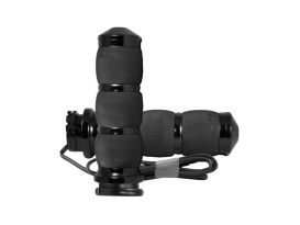 Heated Air Cushion Handgrips - Black. Fits H-D with Throttle Cable.