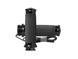 Heated Custom Contour Handgrips - Black. Fits H-D 2008up with Throttle-by-Wire.