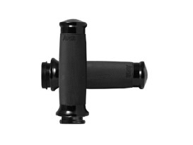 Custom Contour Handgrips - Black. Fits H-D 2008up with Throttle-by-Wire.
