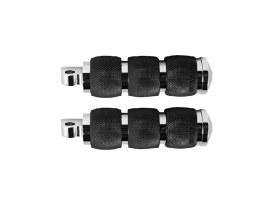 Air Cushion Footpegs - Chrome. Fits H-D.