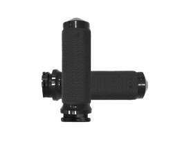 Medium Memory Foam Handgrips - Black. Fits H-D with Throttle Cable.