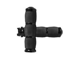 Air Cushion Handgrips - Black. Fits Various Metric Models.