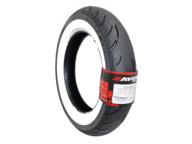 Avon Cobra Chrome 16in. Whitewall Rear Tyre. 140/90-B16 AV92 WW.