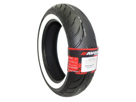Avon Cobra Chrome 16in. Whitewall Rear Tyre. 180/65-B16 AV92 WW.