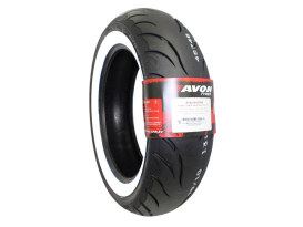 Avon Cobra Chrome 16in. Whitewall Rear Tyre. 180/70-R16 AV92 WW.