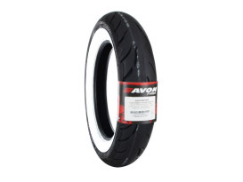 Avon Cobra Chrome 16in. Whitewall Rear Tyre. MT90-B16 AV92 74H WW.