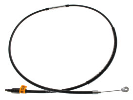 Black Vinyl Clutch Cable. Fits Big Twin 1987-2006 5spd. 64in. Long.