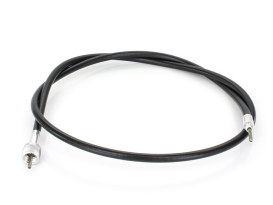 44in. Speedo Cable with 12mm Nut - Black Vinyl.