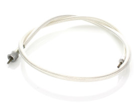 40in. Speedo Cable with 12mm Nut - Platinum Braided.