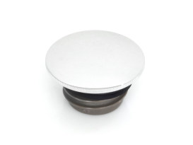 Low Profile Right Hand Vented Screw-In Fuel Cap - Chrome. Fits H-D 1996up.