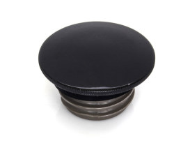 Low Profile Right Hand Vented Screw-In Fuel Cap - Gloss Black. Fits H-D 1996up.