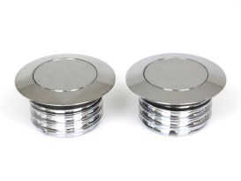 Screw-In Pop-Up Style Fuel Caps with Chrome Finish. Fits All 1982-1995 Models.