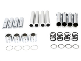 Push Rod Cover Kit - Chrome. Fits Big Twin 1984-1999.