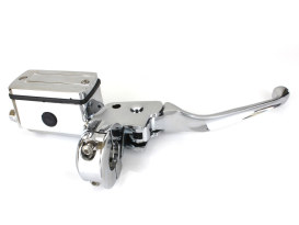 Front Master Cylinder - Chrome. Fits Big Twin & Sportster 1982-1995 Models with Dual Disc Rotors.