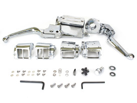 Handlebar Control Kit - Chrome. Fits Big Twin & Sportster 1982-1995 Models with Dual Disc Rotors.