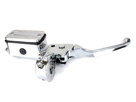 Front Brake Master Cylinder - Chrome. Fits Big Twin & Sportster 1982-1995 Models with Single Disc Rotor.