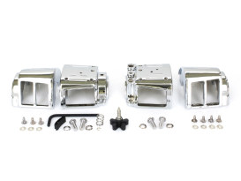 Switch Housings - Chrome. Fits Big Twin & Sportster 1982-1995.