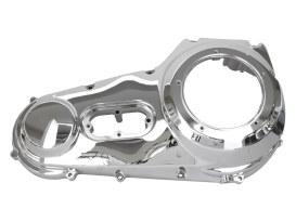 Outer Primary Cover with Chrome Finish. Fits Softail 1999-2006 & Dyna 1999-2005 Models.